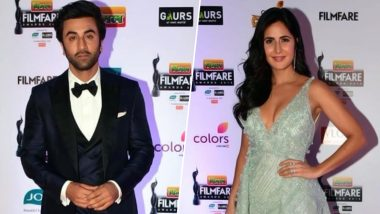 Good Vibes Only! Katrina Kaif and Ranbir Kapoor Hug it Out at the Filmfare Awards 2019 - Read Inside Scoop