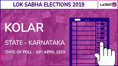 Kolar Lok Sabha Constituency in Karnataka Live 2019: BJP Candidate S Muniswamy Elected MP