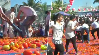 'La Tomatina' Holi in Ahmedabad Has Left People Fuming at The Wastage, Check Tweets