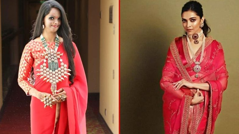 Deepika Padukone's Traditional Look From Akash Ambani-Shloka Mehta's Wedding Inspires Acid Attack Survivor Laxmi Agarwal, Shares Beautiful Collage on Instagram