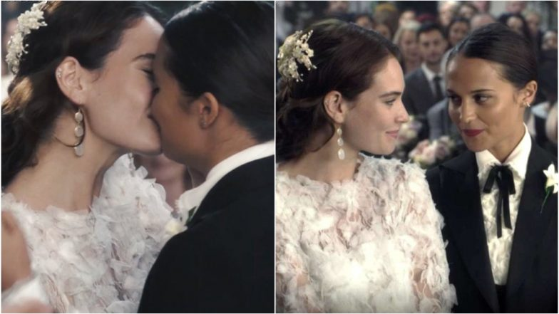 Actresses Alicia Vikander and Lily James Kiss and Get Married in 'Four Weddings and A Funeral' Mini Sequel for Red Nose Day (Watch Video)