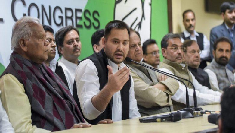Mahagathbandhan Seals Seat-Sharing Pact in Bihar For Lok Sabha Elections 2019: RJD 20, Congress 9, RLSP 5, HAM 3; Check Constituency-Wise List