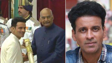 Padma Awards 2019: Satyameva Jayate Actor Manoj Bajpayee Receives the Padma Shri Award (View Pics)