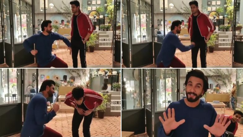 Did Ranveer Singh Pack a Punch to Mard Ko Dard Nahi Hota Actor Abhimanyu Dassani? Watch Video