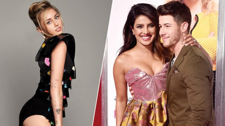 Miley Cyrus Shares Ex-Boyfriend Nick Jonas' Comment on Her Throwback Pic, Here's How Wife Priyanka Chopra REACTS (View Pics)