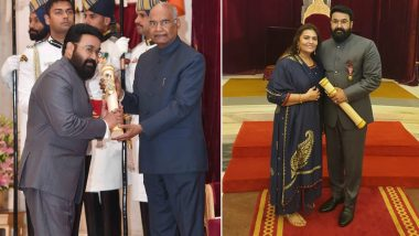Padma Awards 2019: South Superstar Mohanlal Receives Padma Bhushan! Here's What the Actor Has to Say on Receiving India's Highest Civilian Award