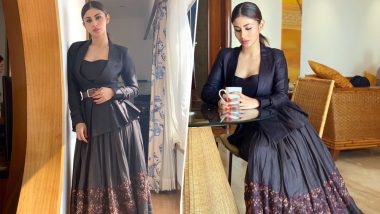 Beauty in Black! Mouni Roy Looks Beguiling as She Gears Up for Romeo Akbar Walter Promotions – View Pics