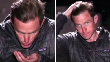 NBC News Reporter Matt Bradley Styles His Hair With Spit on Live TV! Video Goes Viral