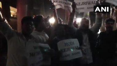 NSUI Members Stop Metro Train at Vishvavidalaya Station, Demand Concession in Fare for Delhi University Students