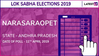 Narasaraopet Lok Sabha Constituency in Andhra Pradesh: Candidates, Current MP, Polling Date and Election Results 2019