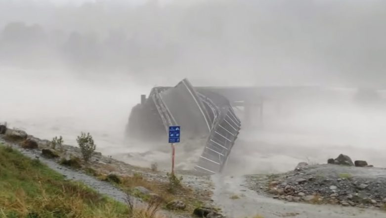 Dramatic Video of New Zealand's Waiho Bridge Twisting and Falling Into River During Heavy Rains Goes Viral