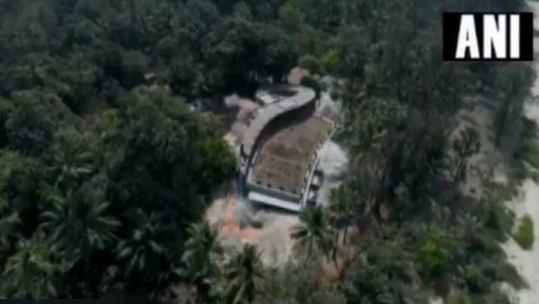 Nirav Modi's Seaside Bungalow 'Roopanya' in Alibaug Demolished Using Controlled Explosives, Watch Video