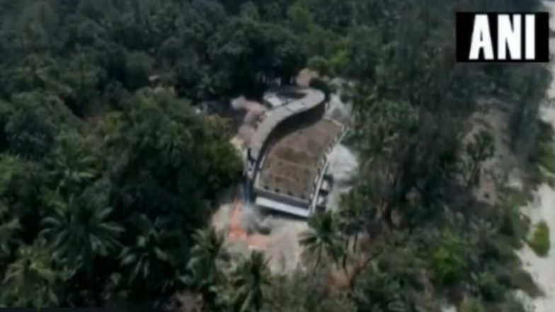 Nirav Modi's Seaside Bungalow 'Roopanya' in Alibaug Demolished Using Controlled Explosives, Watch Video