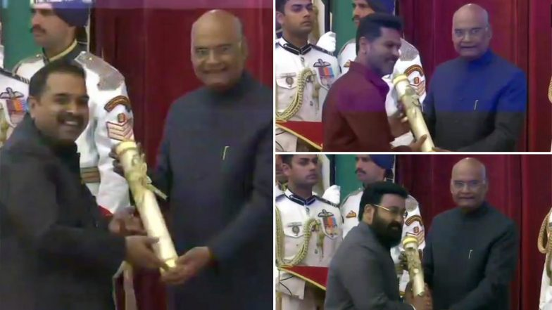 Padma Awards 2019 Winners: Mohanlal, Prabhudheva, Shankar Mahadevan Conferred With Prestigious Honour (See Pics)