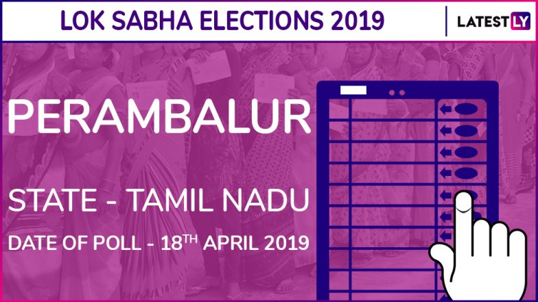 Perambalur Lok Sabha Constituency Election Results 2019 in Tamil Nadu: TR Paarivendhar of DMK Wins This Parliamentary Seat