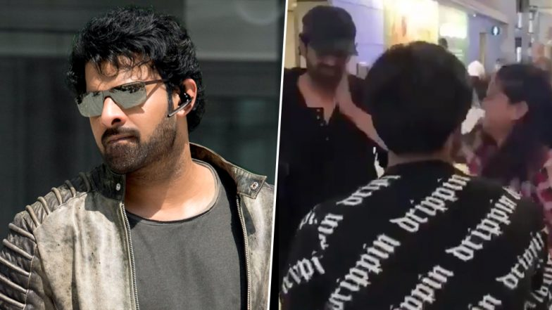 Prabhas Gets a Pat on the Cheek From a Hyper-Excited Fan
