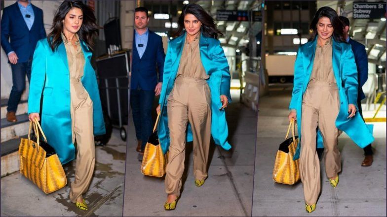 Priyanka Chopra Jonas' Latest Street Style Is a Lesson in Chic Colour Blocking! View Pics of Indian Actress