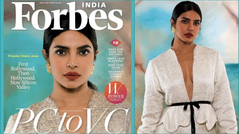 Priyanka Chopra Jonas Graces Forbes India W-Power Issue, Looks Stunning in Markarian NYC's Alexandra O'Neill Jacket (See Pics)