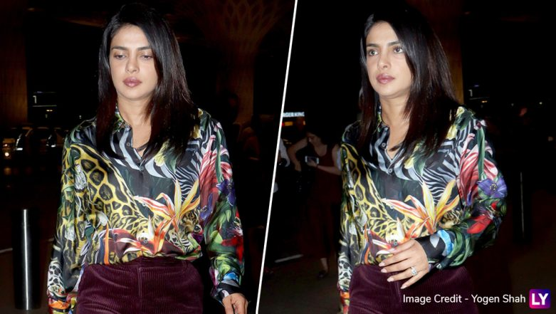 Priyanka Chopra Jonas Spotted At a Mumbai Hospital With Mom Madhu Chopra Before Leaving for USA? Watch Video