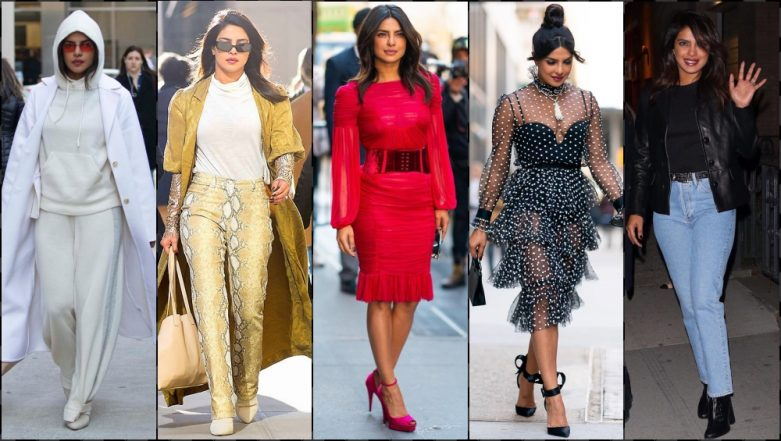 Style It Like Priyanka Chopra! From Comfy Sweatpants to Sexy Polka-Dot Dress, Indian Actress Slays It All (View Pics)