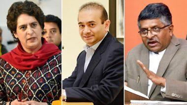 Priyanka Gandhi Mocks BJP Celebrating Diamantaire Nirav Modi's Arrest in London, Asks 'Who Let Him Go?'