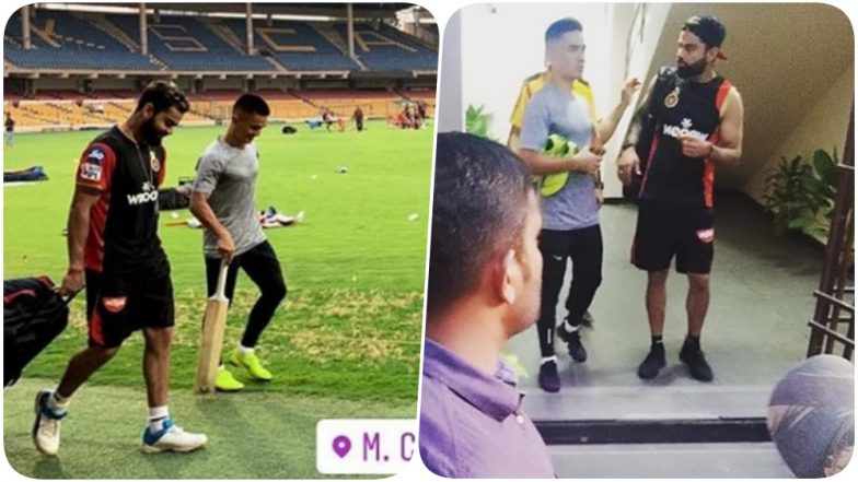 Sunil Chhetri Joins Virat Kohli & Co for RCB's Training Camp Ahead of Their First Game Against CSK in IPL 2019 (Watch Video)