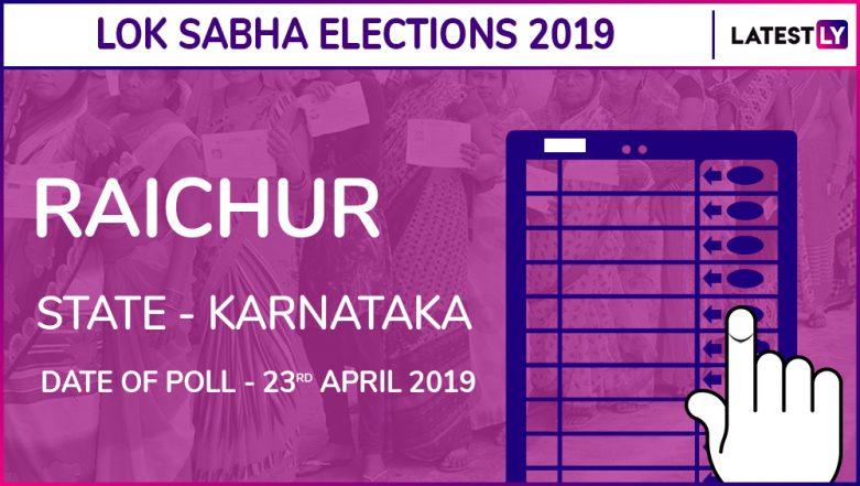 Raichur Lok Sabha Constituency in Karnataka Results 2019: BJP Candidate Raja Amareshwara Naik Elected MP