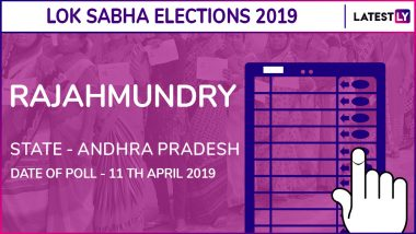 Rajahmundry Lok Sabha Constituency in Andhra Pradesh: Candidates, Current MP, Polling Date and Election Results 2019