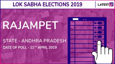Rajampet Lok Sabha Constituency in Andhra Pradesh Results 2019: P.V.Midhun Reddy of YSRCP Wins Parliamentary Election