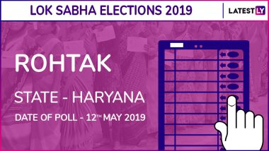 Rohtak Lok Sabha Constituency Result 2019 in Haryana: Arvind Kumar Sharma of BJP Wins Parliamentary Election