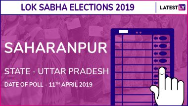 Saharanpur Lok Sabha Constituency in Uttar Pradesh Live Results 2019: Leading Candidates From The Seat, 2014 Winning MP And More
