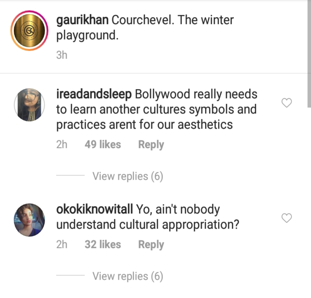 Comments on Gauri Khan's Instagram post. (Photo Credits: Instagram)