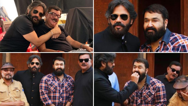 Suniel Shetty's Excitement to Work With Padma Bhushan Winner Mohanlal Is Evident in These Pics