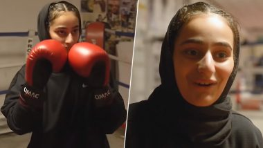 Muslim Teenager Safiyyah Syeed From Bradford Becomes First to Participate in Boxing Ring Wearing a Hijab (Watch Video)