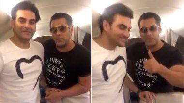 Salman Khan and Arbaaz Khan Land in Their Hometown Indore as First Schedule of Dabangg 3 Shoots Begins Tomorrow