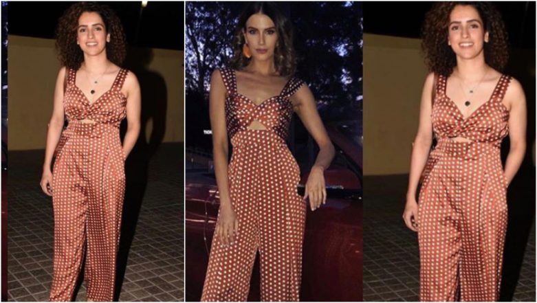 Diet Sabya Calls Sanya Malhotra's Polka-Dotted Jumpsuit 'Gandi Copy' But the Actress Has a Fitting Reply for Them!