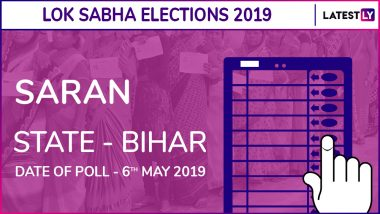 Saran Lok Sabha Constituency Election Results 2019 in Bihar: Rajiv Pratap Rudy of BJP Wins This Seat