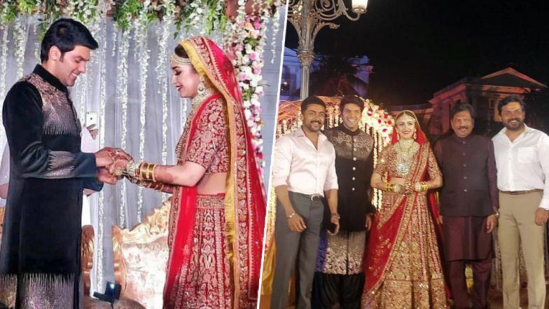 Sayyeshaa Saigal–Arya Wedding Pictures: Suriya, Karthi Attend Saira Banu's Grand-Niece's Royal Ceremony