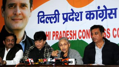 Congress Releases List of Candidates For Delhi Lok Sabha Elections 2019, Sheila Dikshit to Contest From North East Delhi, Kapil Sibal Missing