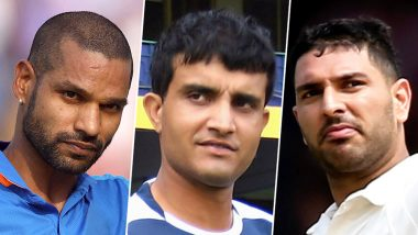 Shikhar Dhawan Shares a Picture With Sourav Ganguly During Delhi Capitals' Training Session Ahead of IPL 2019; Yuvraj Singh Trolls Gabbar