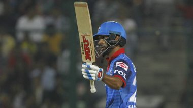 DC vs RR Stat Highlights IPL 2020: Shikhar Dhawan Scores Consecutive Half-Centuries as Delhi Capitals Win by 13 Runs