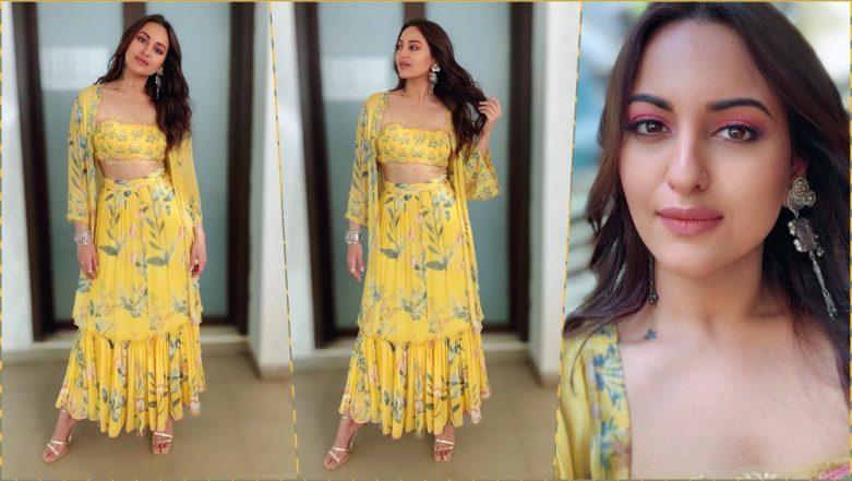 'Kalank' on IPL 2019! Sonakshi Sinha Dons Yellow Anita Dongre Ensemble, Gives Major CSK Fan Vibes (View Pics)