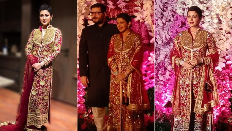 Sonali Bendre Behl Makes Her First Appearance After Battling Cancer At Akash Ambani - Shloka Mehta's Reception And Looks Drop Dead Gorgeous!
