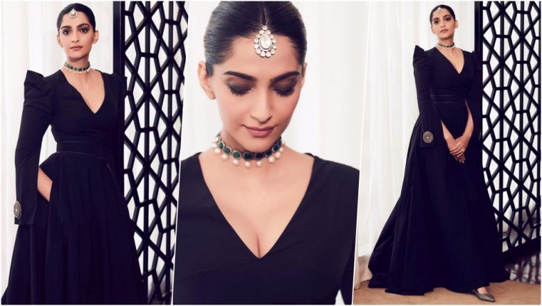 Sonam Kapoor at National Museum of Qatar Opening Ceremony: Bollywood Actress Looks Ethereal in Marmar Halim Gown (View Pics)