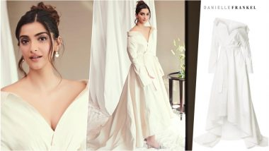Hot Expensive! Sonam Kapoor Gives Major Summer Style Goals in This £5,360 White Danielle Frankel Shirt Gown (View Pics)