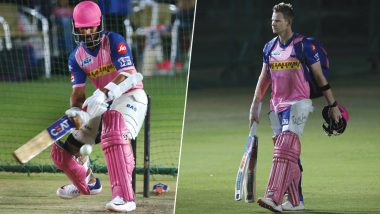 Ahead of SRH vs RR Match, Steve Smith and Ajinkya Rahane Sweat It Out in an Intense Workout Session! Rajasthan Royals Post Motivating VIVO IPL 2019 Video