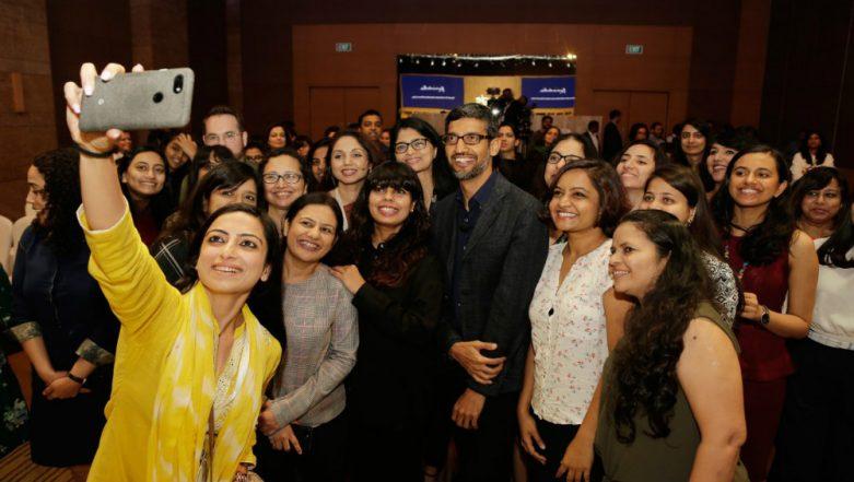 Google CEO Sundar Pichai in Mumbai to Celebrate International Women's Day 2019