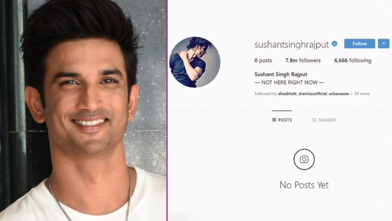 Sushant Singh Rajput Deletes All Instagram Posts Leaving His 7.8 Million Followers Confused