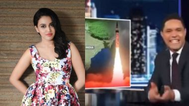 Swara Bhasker Lashes Out At The Daily Show Host Trevor Noah For Insensitive Comments on India-Pakistan Tensions