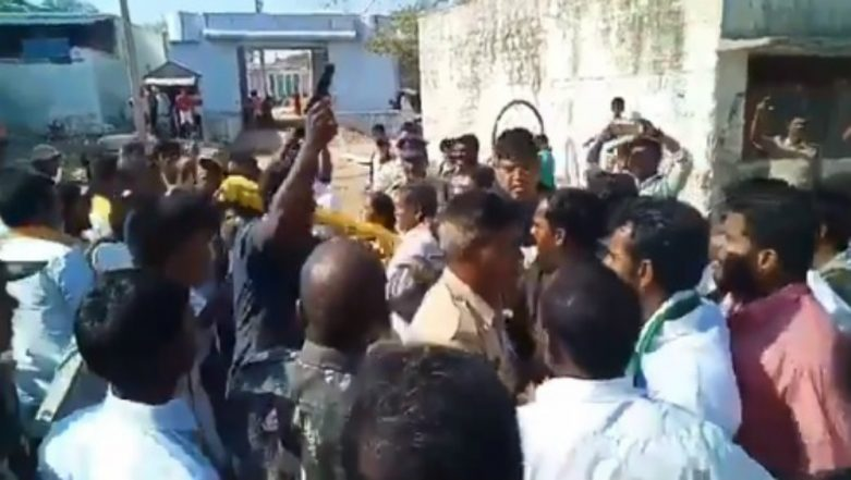 Lok Sabha Elections 2019: TDP Candidate Injured as Cop Opens Fire to Save Him From YSRCP Activists in Andhra Pradesh (Watch Video)